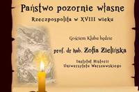 Państwo pozornie własne (Rzeczpospolita w XVIII wieku). - zielnska